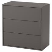 ЭКЕТ Шкаф с 3 ящиками,темно-серый
